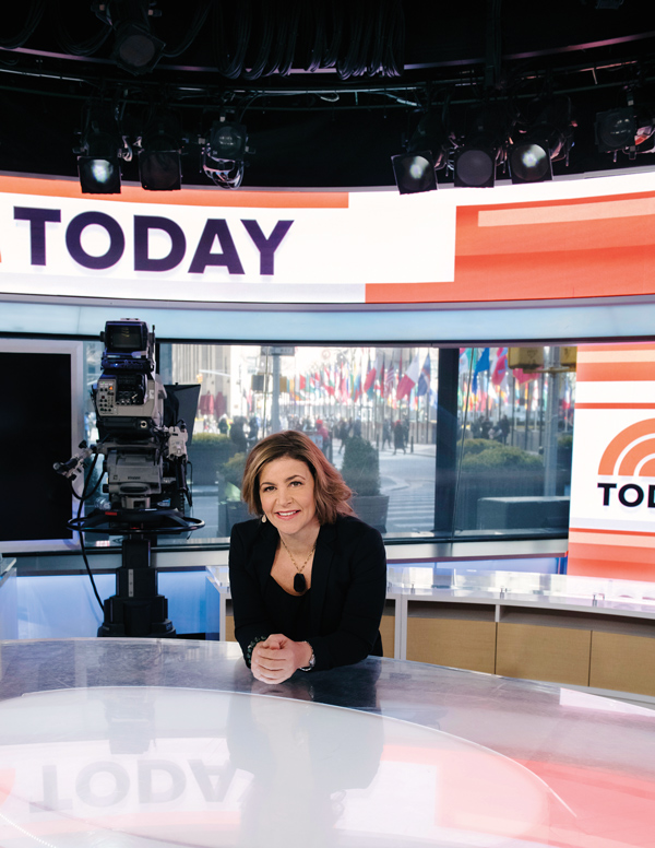 Christina Glorioso on the set of the Today Show