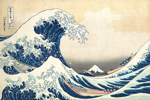Japanese painting the great wave
