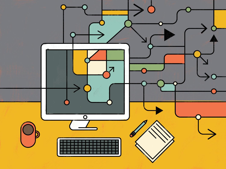 illustration of a workspace