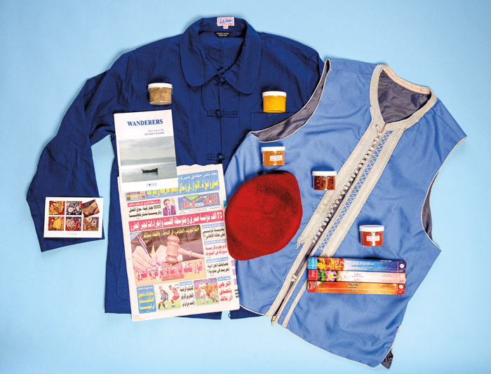 newspaper clothing and other items from Tunisia